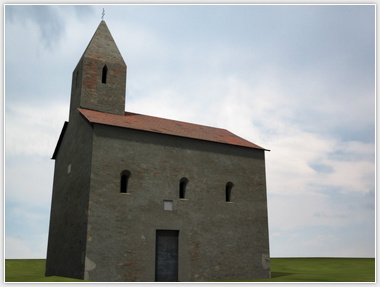 Church in Drážovce 3D model