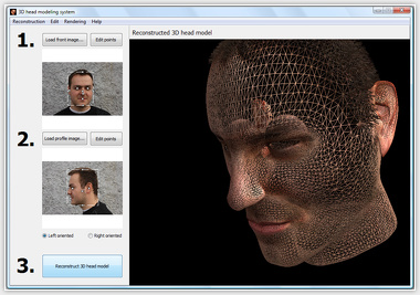Automatic image-based 3D head modeling